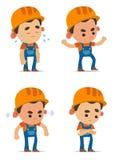 Cartoon Builders. Set of cute Cartoon Builders stock illustration