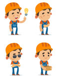 Cartoon Builders Stock Image
