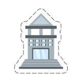 Cartoon building bank commerce. Illustration eps 10 Royalty Free Stock Image