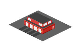 Cartoon building fire departement Royalty Free Stock Photos