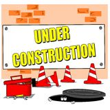 Cartoon building site Royalty Free Stock Photography