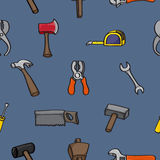 Cartoon Building Tools Seamless Background Stock Images