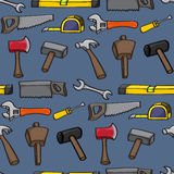 Cartoon Building Tools Seamless Background Royalty Free Stock Photography
