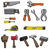 Cartoon Building Tools Set Royalty Free Stock Photography