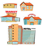 Cartoon buildings Stock Image