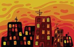 Cartoon Buildings Stock Image