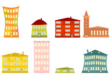 Cartoon buildings Royalty Free Stock Photo