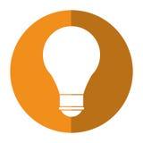 Cartoon bulb creative idea school shadow. Vector illustration eps 10 Royalty Free Stock Photography