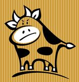 Cartoon bull. Isolated on a striped background Royalty Free Stock Image