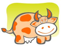 Cartoon bull Stock Photo