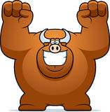 Cartoon Bull Celebrating Royalty Free Stock Photography