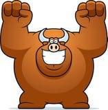 Cartoon Bull Celebrating Royalty Free Stock Photography