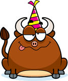 Cartoon Bull Drunk Party Royalty Free Stock Images