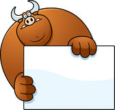 Cartoon Bull Hiding Stock Photography