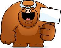 Cartoon Bull Sign Stock Photography