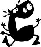 Cartoon Bull Silhouette Afraid Stock Photography