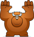 Cartoon Bull Surrender Royalty Free Stock Images