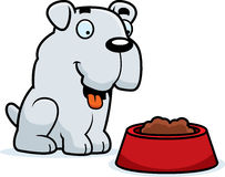 Cartoon Bulldog Food Stock Photography
