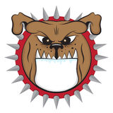 Cartoon bulldog head vector animal icon illustration Royalty Free Stock Photo