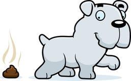 Cartoon Bulldog Poop Stock Photography