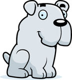 Cartoon Bulldog Sitting Stock Photo