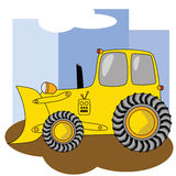 Cartoon bulldozer 2 Stock Photography