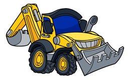Cartoon Bulldozer Digger Vehicle Stock Image