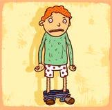 Cartoon bully illustration , vector icon. Stock Photo