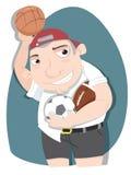 Cartoon bully schoolboy. Stock Image