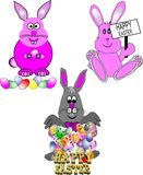 Cartoon bunnies Royalty Free Stock Photos