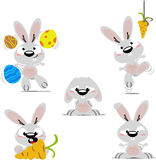 Cartoon bunnies Royalty Free Stock Photography