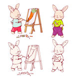 Cartoon Bunnies Royalty Free Stock Image