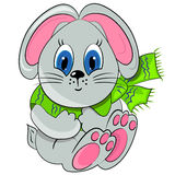 Cartoon bunny. animal zoo illustration Royalty Free Stock Image