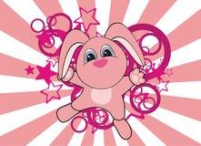 Cartoon bunny background. Cartoon baby bunny background in format stock illustration