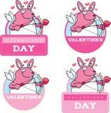 Cartoon Bunny Cupid Graphic Royalty Free Stock Photos