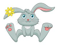 Cartoon bunny. Isolated on white background vector illustration