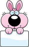 Cartoon Bunny Rabbit Sign Royalty Free Stock Photo