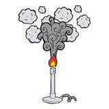 Cartoon bunsen burner Stock Image
