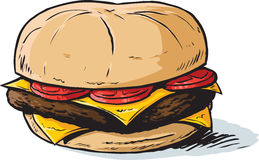 Cartoon burger Stock Photo
