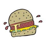 cartoon burger Royalty Free Stock Photography