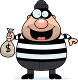 Cartoon Burglar Moneybag. A cartoon illustration of a burglar with a moneybag Royalty Free Stock Photo