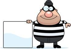 Cartoon Burglar Sign Stock Images