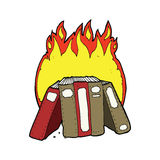 cartoon burning books Royalty Free Stock Images