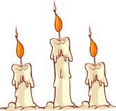 Cartoon burning candle Stock Photography