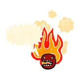 cartoon burning face symbol Stock Image