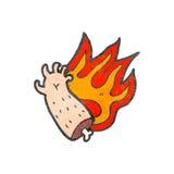 cartoon burning halloween arm Stock Images