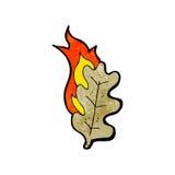 Cartoon burning leaf Stock Photography