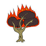 Cartoon burning tree Stock Image