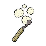 Cartoon burnt match Stock Images