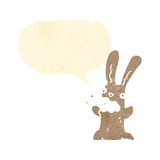 Cartoon burping bunny Royalty Free Stock Photo
